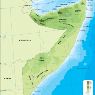 Somalia physical map