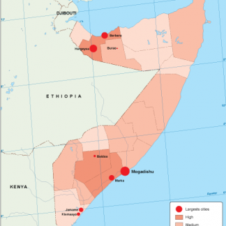 Somalia population map