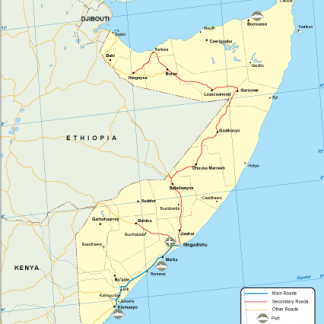 Somalia transportation map