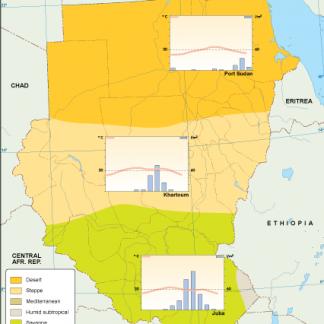 Sudan climate map