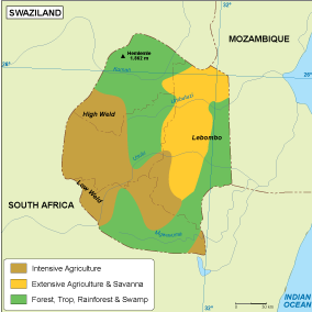 Swaziland vegetation map