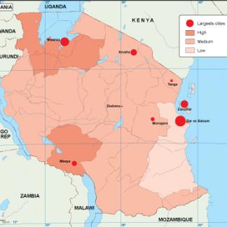 Tanzania population map