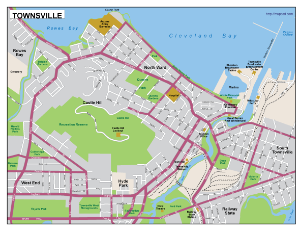 Townsville EPS map