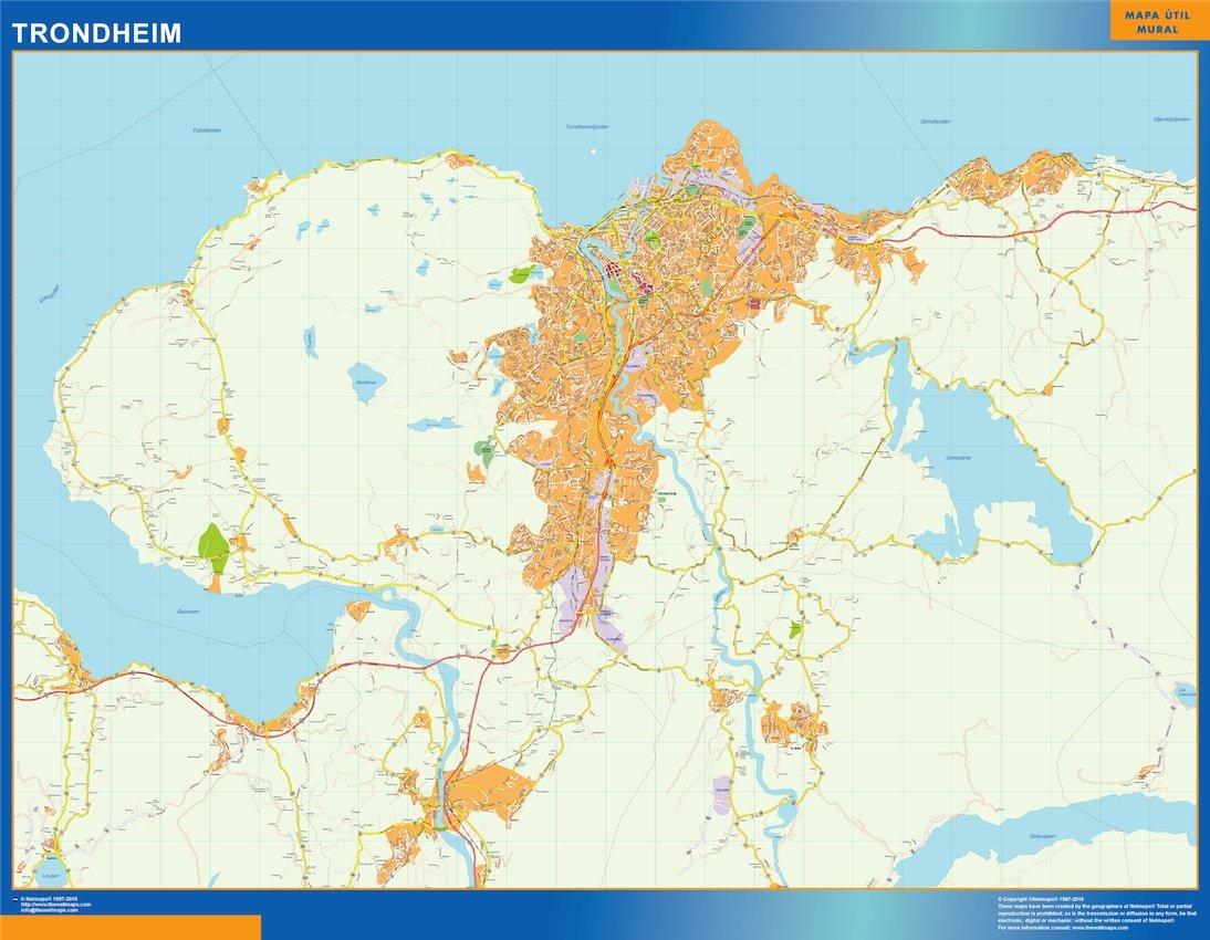 Trondheim kart
