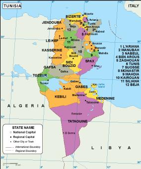 Tunisia EPS map