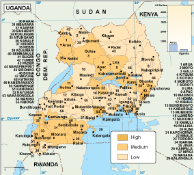 Uganda economic map