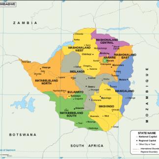 Zimbabwe EPS map