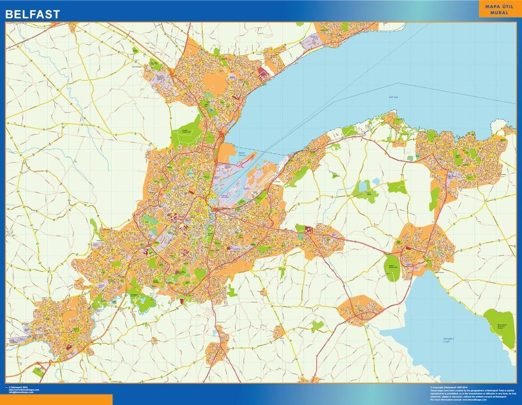 belfast vector map