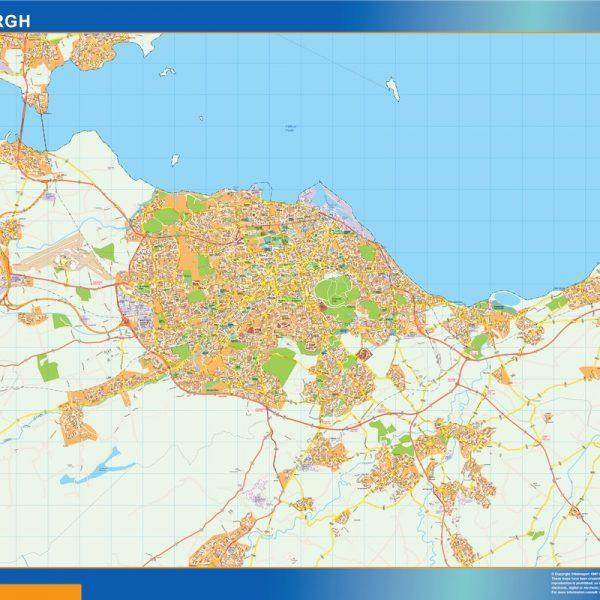 edinburgh vector map
