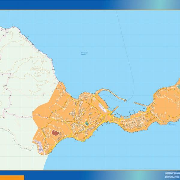 mapa vectorial ceuta