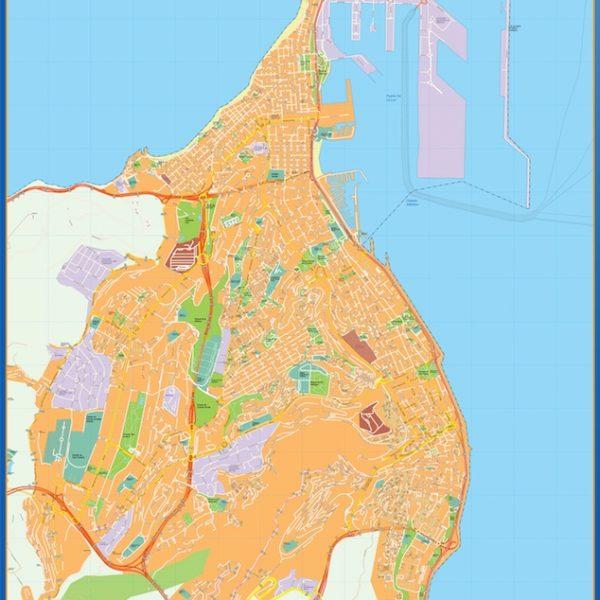 mapa vectorial las palmas de gran canaria