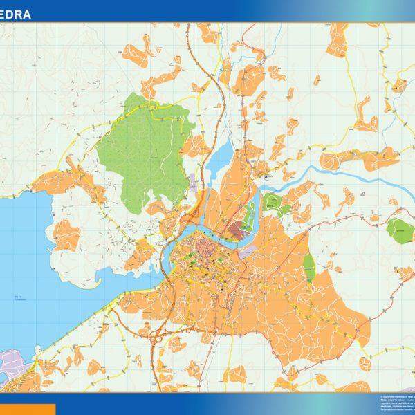 mapa vectorial pontevedra