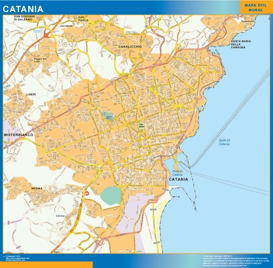 mappa eps catania. Eps Illustrator Map | Vector maps
