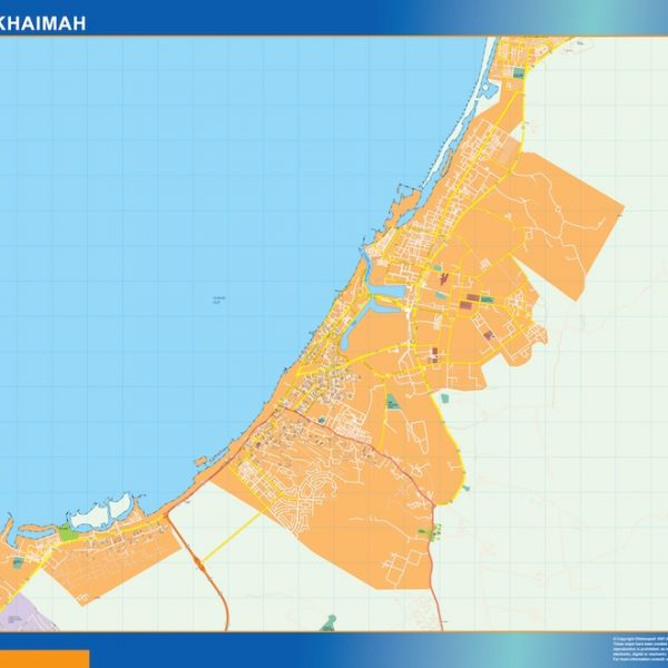 ras al khaimah vector map