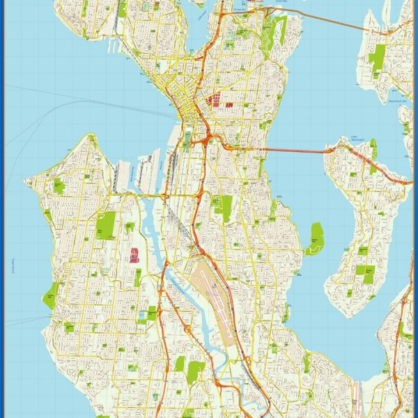 seattle vector map