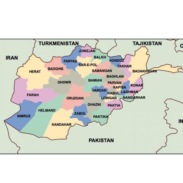 afganisthan presentation map