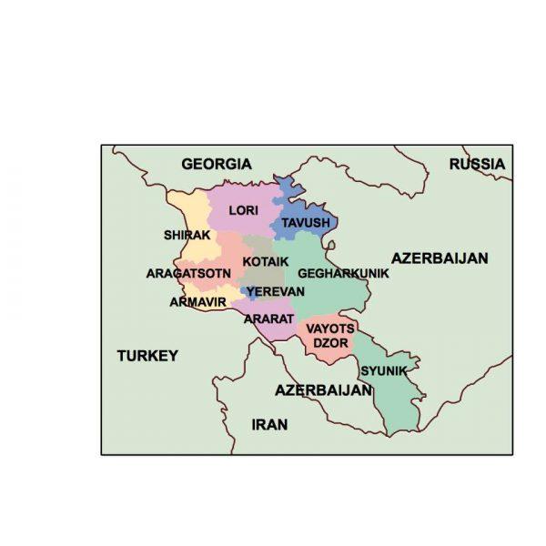 armenia presentation map