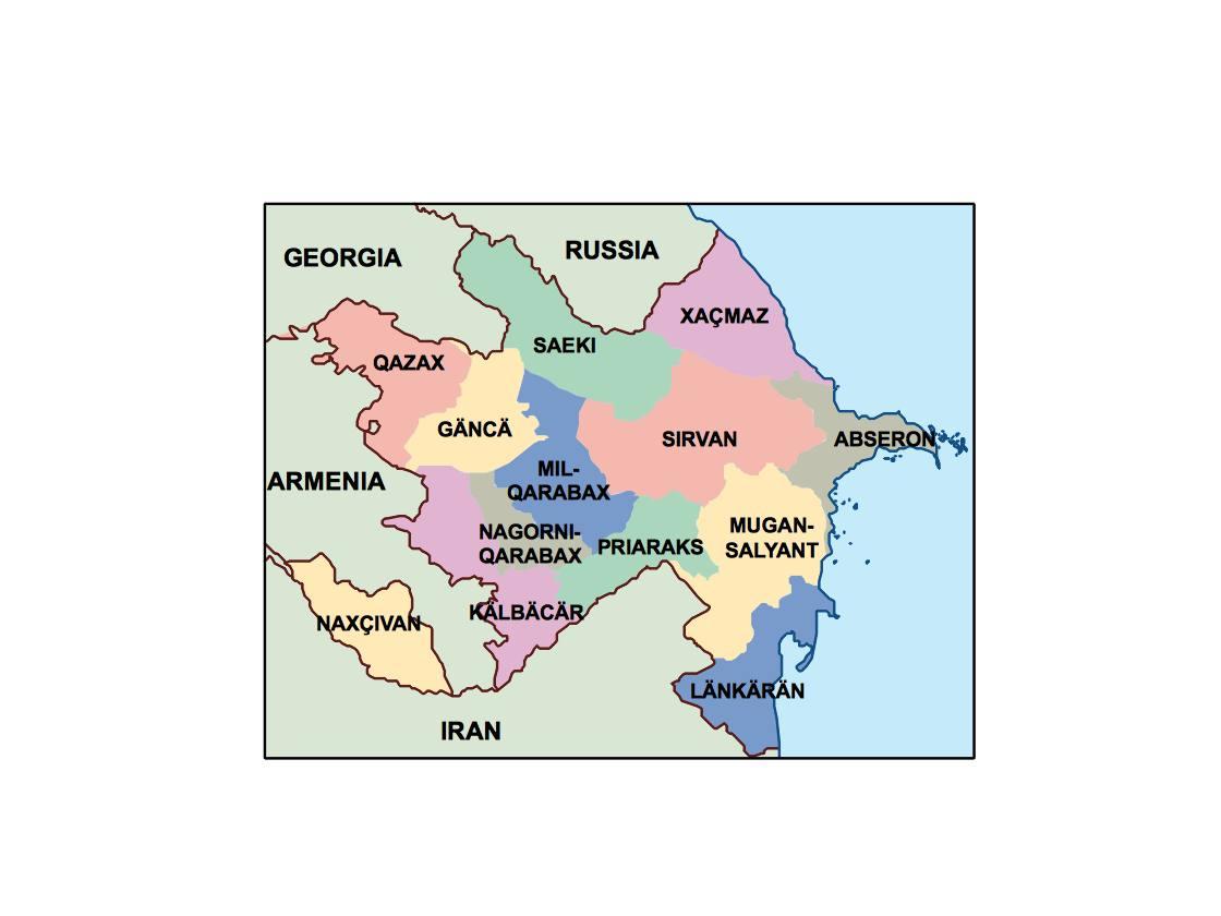 azerbaijan presentation map