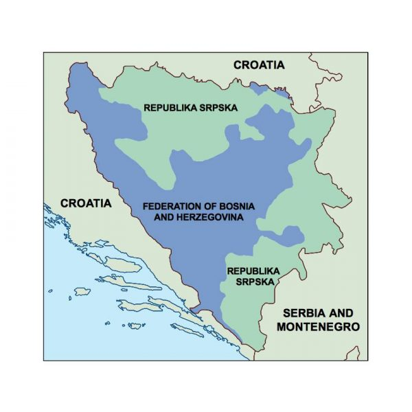 bosnia and herzegovina presentation map
