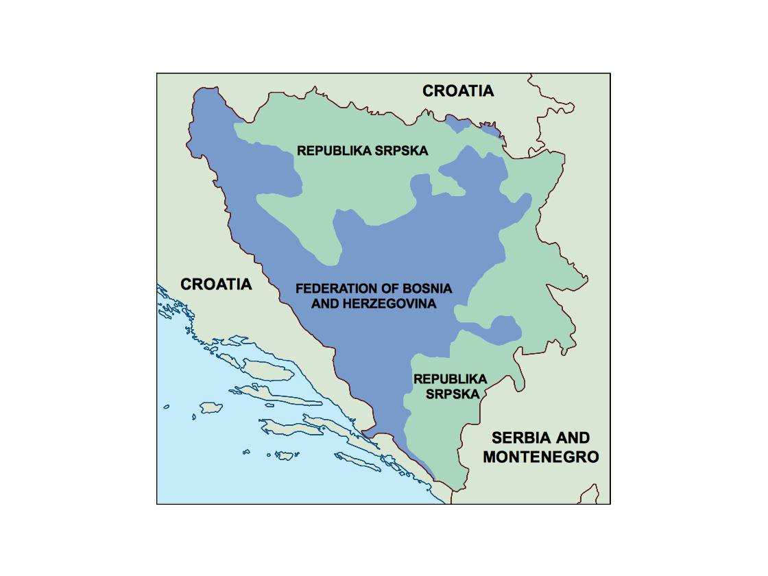 bosnia and herzegovina presentation map