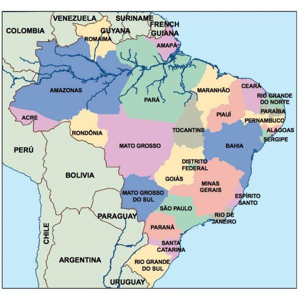 brazil presentation map