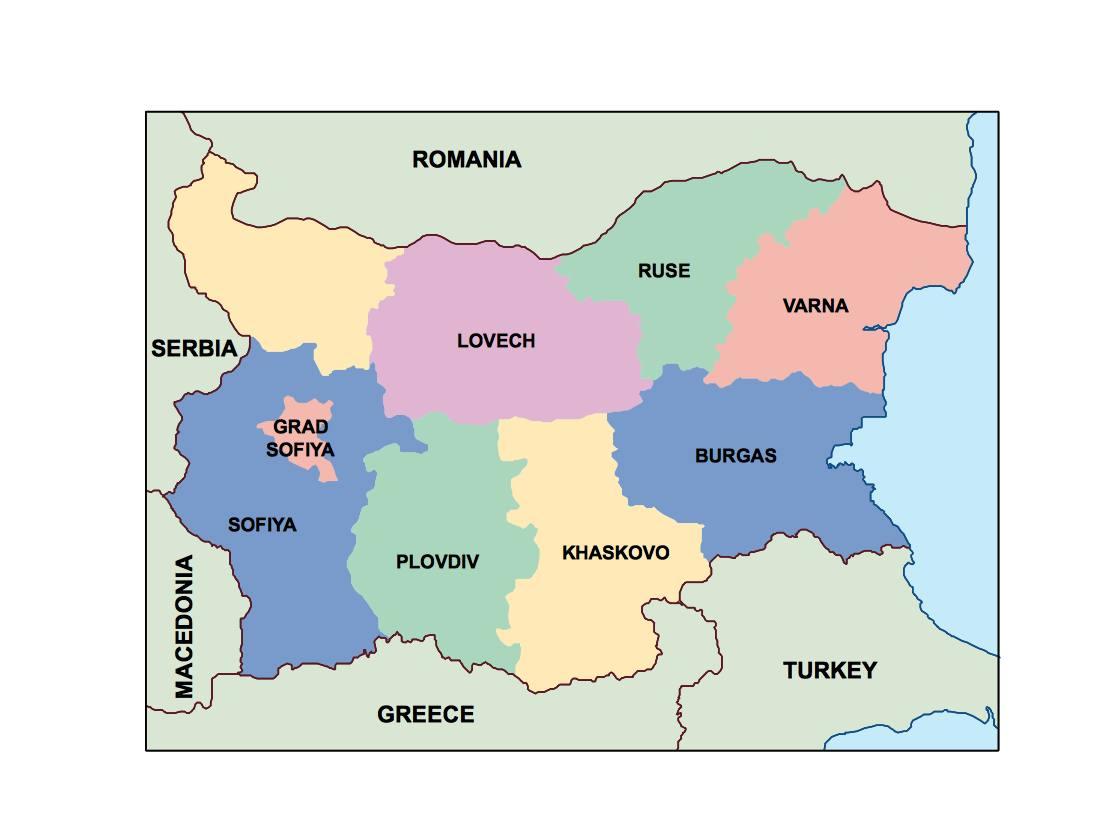 bulgaria presentation map
