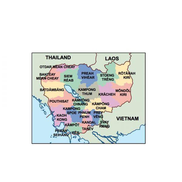 cambodia presentation map