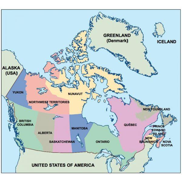 canada presentation map