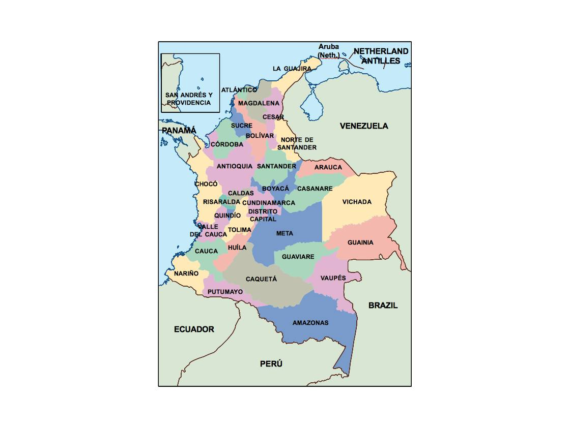 colombia presentation map