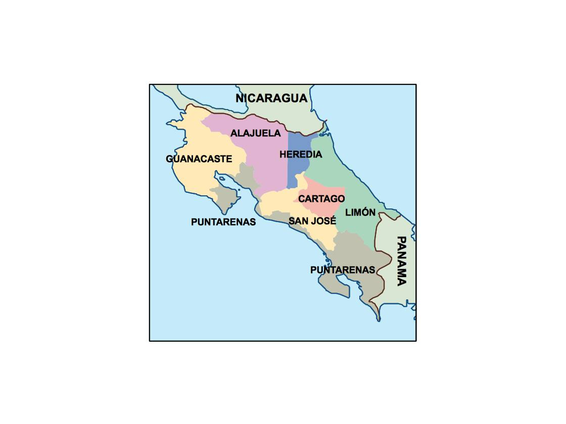 costa rica presentation map