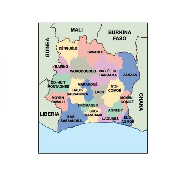 cote divoire presentation map