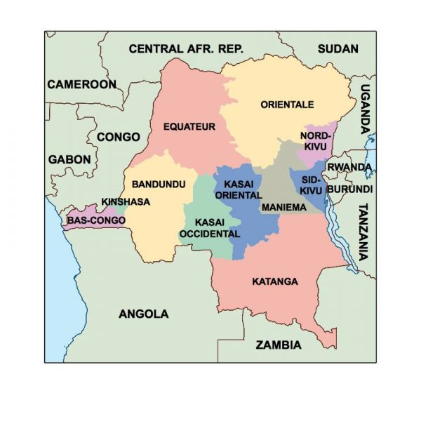 democratic republic of congo presentation map