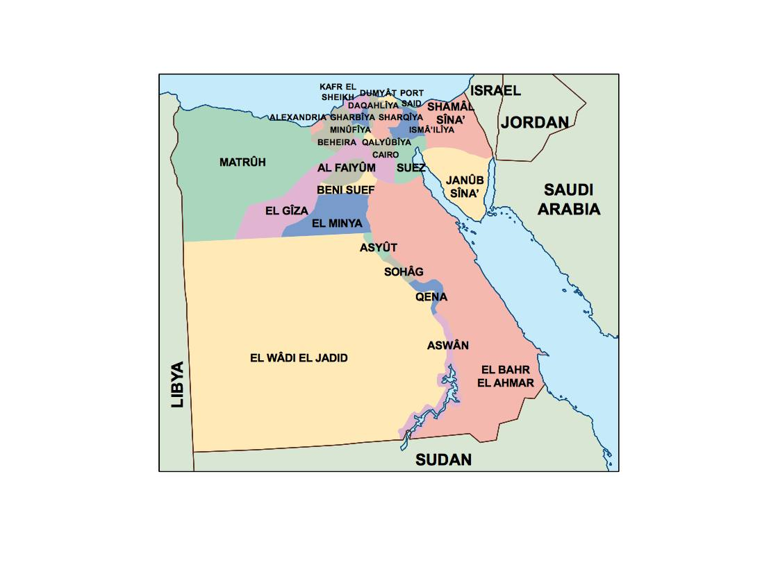 egypt presentation map