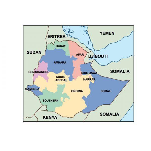 ethiopia presentation map