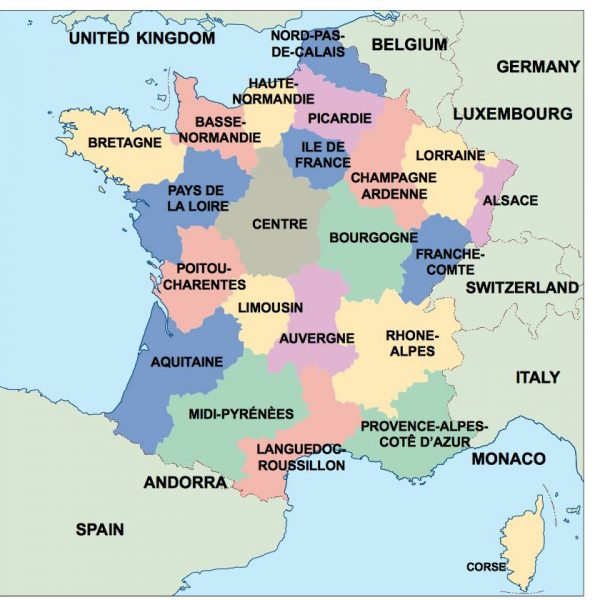 france presentation map