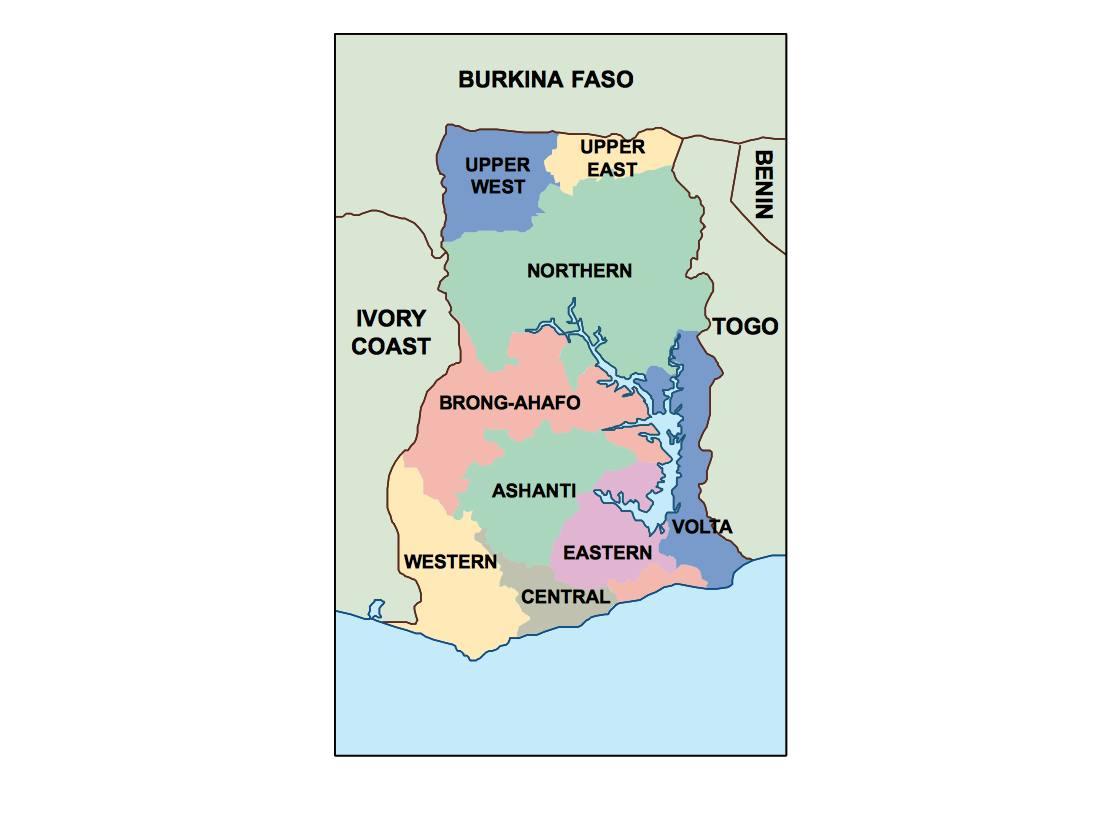 ghana presentation map