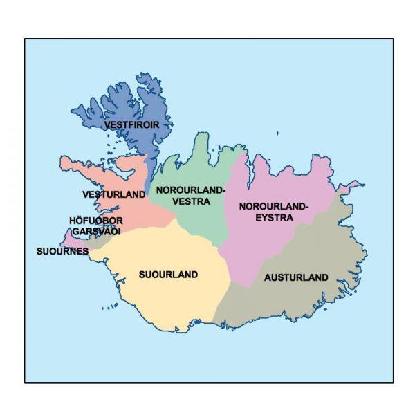 iceland presentation map