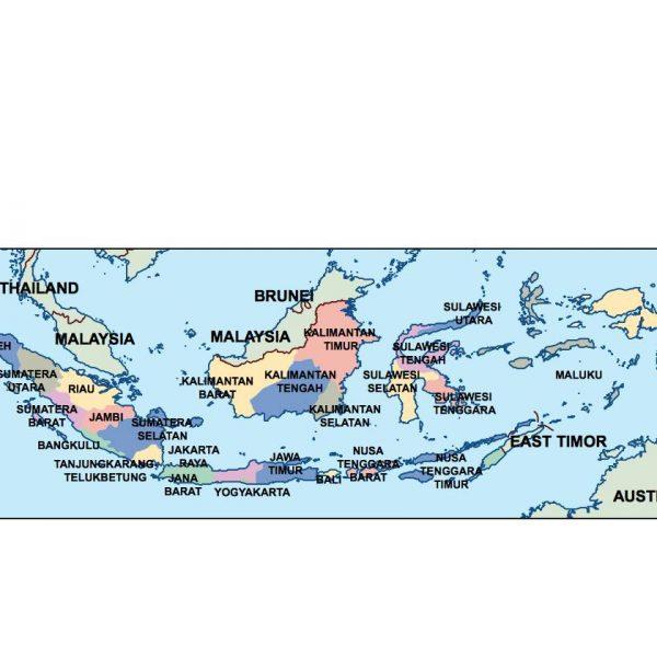 indonesia presentation map