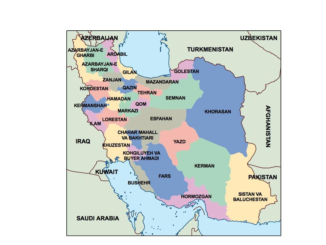 iran presentation map