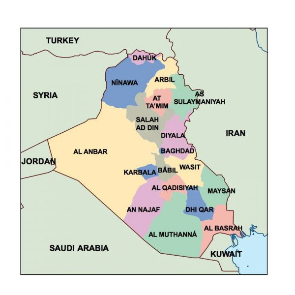 iraq presentation map