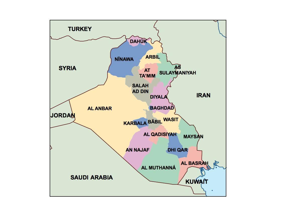 iraq presentation map