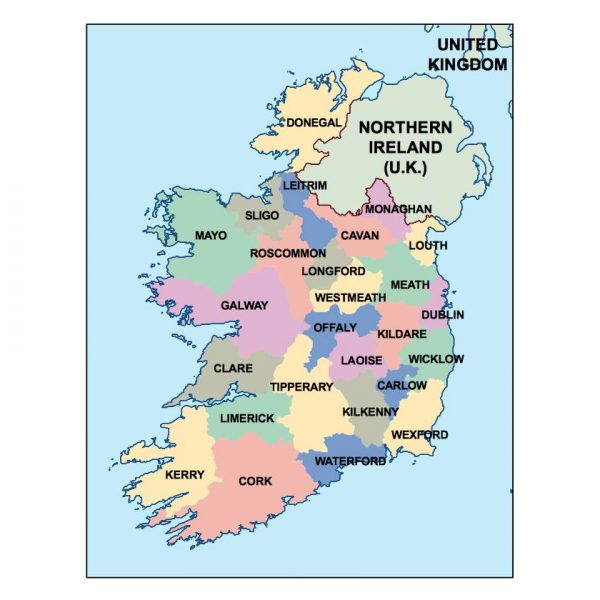 ireland presentation map