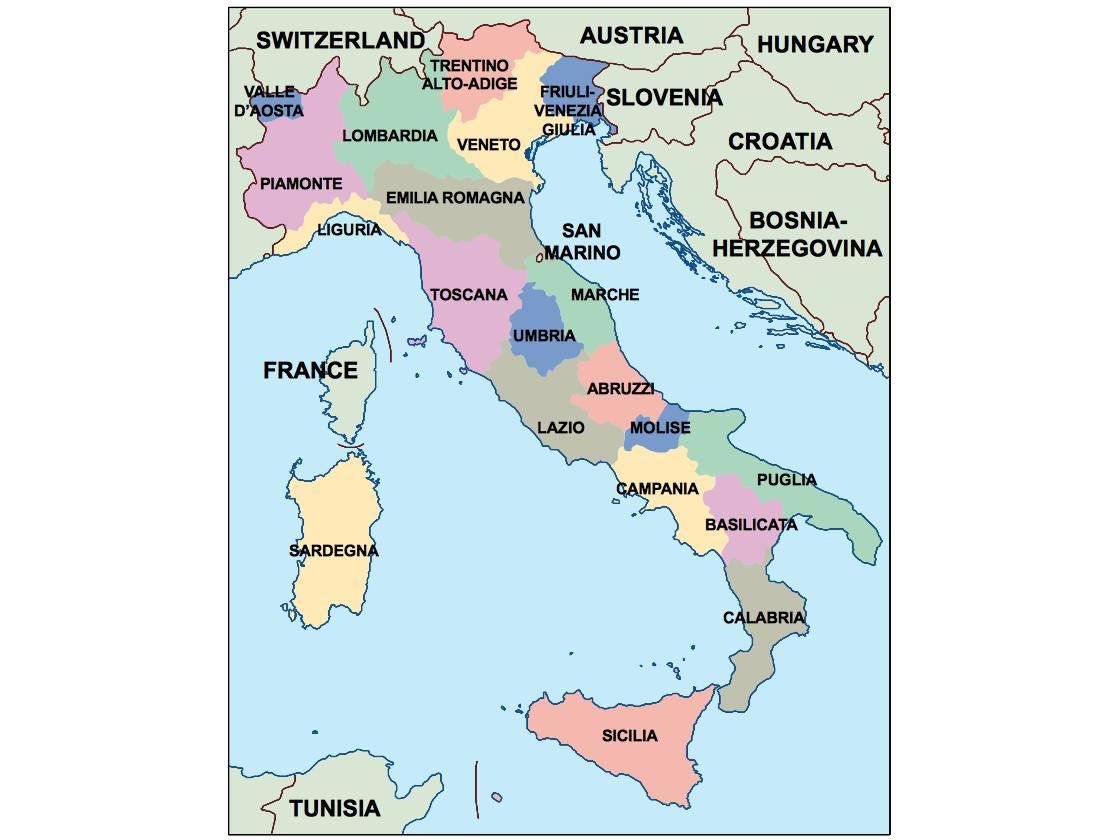 italy presentation map