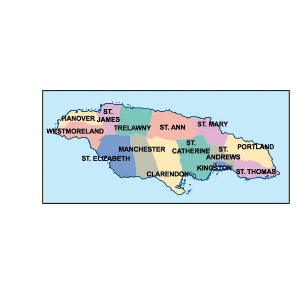 jamaica presentation map