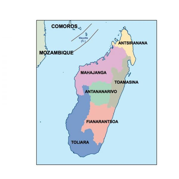 madagascar presentation map