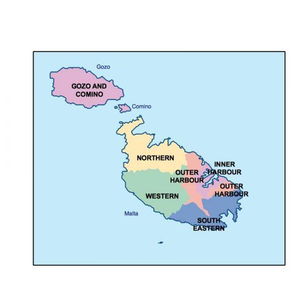 malta presentation map
