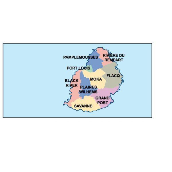 mauritius presentation map