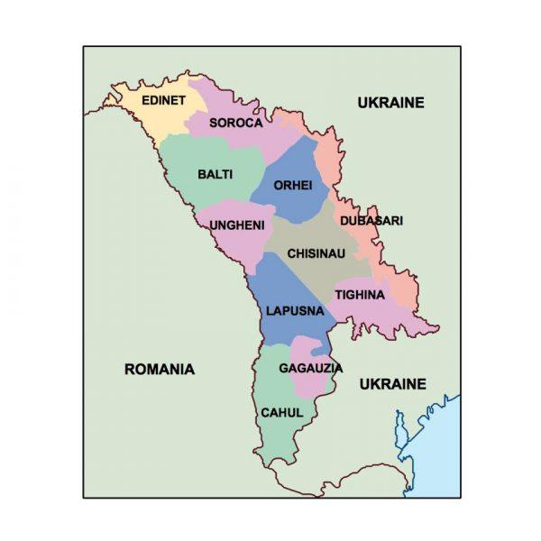 moldova presentation map