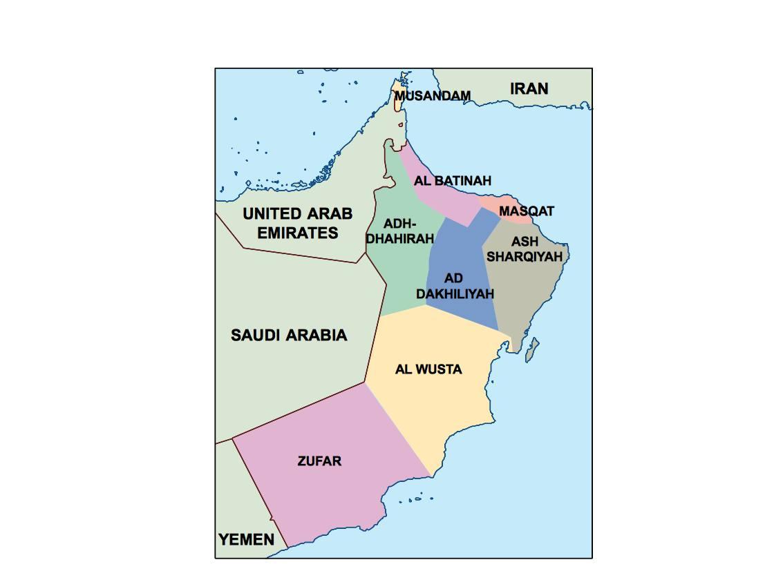 oman presentation map