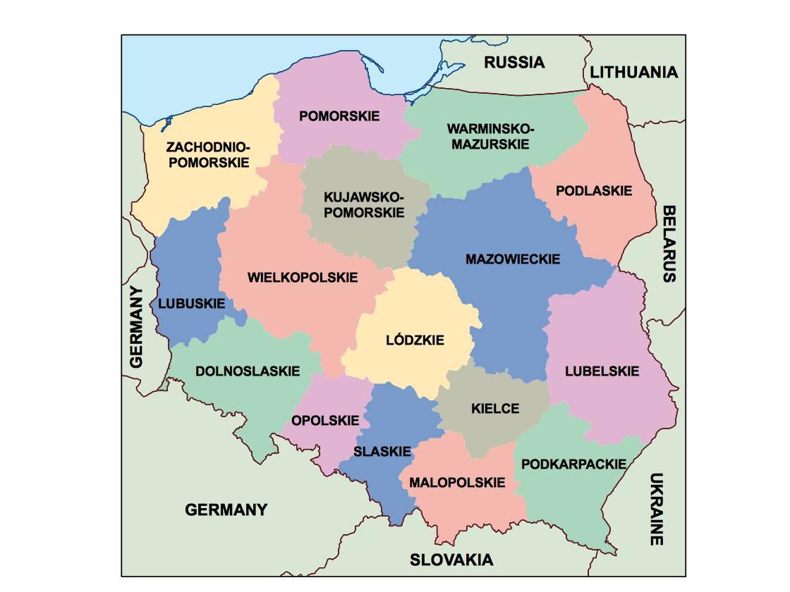 poland presentation map
